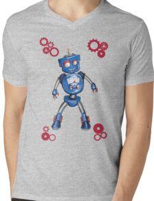 Robot Gauge Mens V-Neck T-Shirt