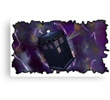 Blue Box in Space Canvas Print