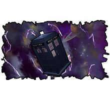 Blue Box in Space Photographic Print