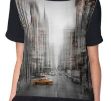 City-Art NYC 5th Avenue Yellow Cab Chiffon Top