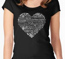 Essential Oil Heart  Women's Fitted Scoop T-Shirt