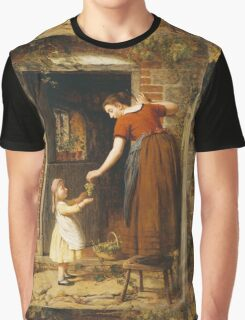 Vintage famous art - George Smith - Gathering The Grapes Graphic T-Shirt