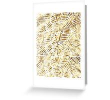 All That Glitters is Gold - Crosshatch pattern Greeting Card
