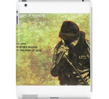 Just another soldier iPad Case/Skin