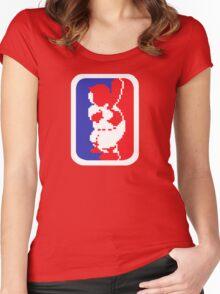 Nintendo RBI Baseball Major League MLB Logo Women's Fitted Scoop T-Shirt