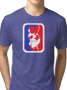 Nintendo RBI Baseball Major League MLB Logo Tri-blend T-Shirt