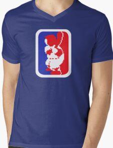 Nintendo RBI Baseball Major League MLB Logo Mens V-Neck T-Shirt