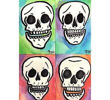 4 Skulls Photographic Print