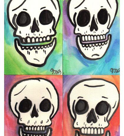 4 Skulls Sticker