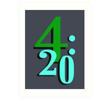 420 Cannabis National Smoking Time Art Print