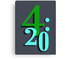 420 Cannabis National Smoking Time Canvas Print