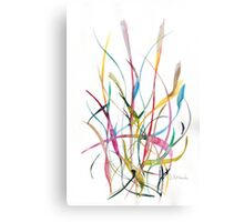 Unknown Flower 2 - Small Abstract Landscape,  watercolor, ink & pencil on paper Canvas Print