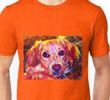 Pretty Puck Pup in the Paint Unisex T-Shirt