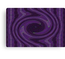 Purple Vortex Abstract Canvas Print