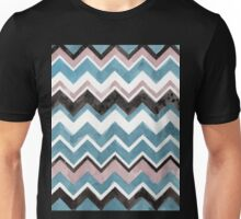 Watercolor Chevrons in Aqua, Nude, White, and Black Unisex T-Shirt