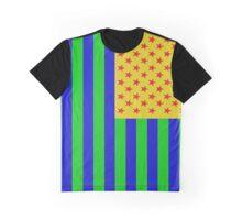 Trevor's American Flag Motif Graphic T-Shirt