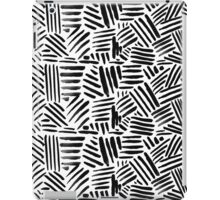 All Black - Crosshatch pattern iPad Case/Skin