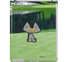 Cat  Playing Golf On The 18 Hole iPad Case/Skin