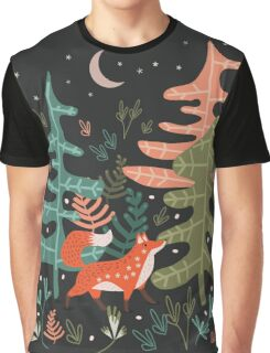 Evergreen Fox Tale Graphic T-Shirt