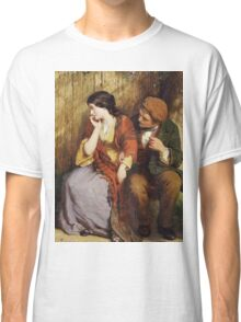 Vintage famous art - George Smith - Moment Of Suspense Classic T-Shirt