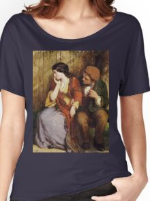 Vintage famous art - George Smith - Moment Of Suspense Women's Relaxed Fit T-Shirt