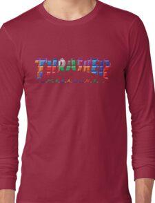 thrasher color block logo Long Sleeve T-Shirt
