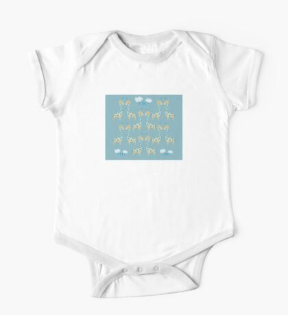 Cute Giraffe Illustration One Piece - Short Sleeve