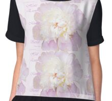 Such a Pretty Peony - Inspirational Quote Chiffon Top
