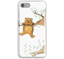 Silly bear and tree iPhone Case/Skin