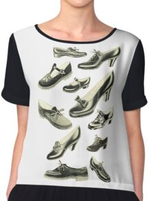 Shoe Fetish Chiffon Top