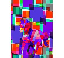 Cool Horse Vector Colors And Shapes  Photographic Print