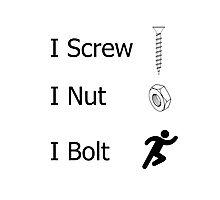 screw nut bolt Photographic Print