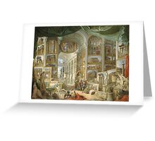Vintage famous art - Giovanni Paolo Panini - Ancient Rome Greeting Card
