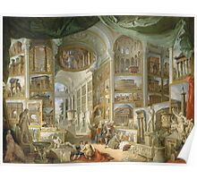 Vintage famous art - Giovanni Paolo Panini - Ancient Rome Poster