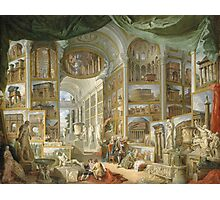 Vintage famous art - Giovanni Paolo Panini - Ancient Rome Photographic Print