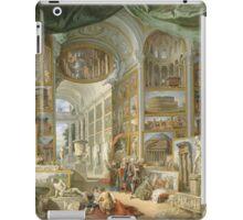 Vintage famous art - Giovanni Paolo Panini - Ancient Rome iPad Case/Skin