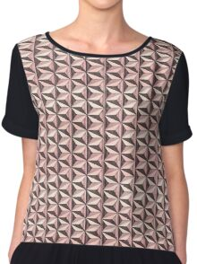 optical triangles (black and pink) Chiffon Top