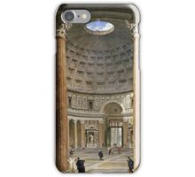 Vintage famous art - Giovanni Paolo Panini - The Interior Of The Pantheon, Rome iPhone Case/Skin