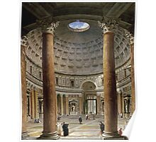 Vintage famous art - Giovanni Paolo Panini - The Interior Of The Pantheon, Rome Poster