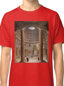 Vintage famous art - Giovanni Paolo Panini - The Interior Of The Pantheon, Rome Classic T-Shirt