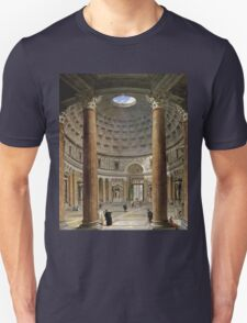 Vintage famous art - Giovanni Paolo Panini - The Interior Of The Pantheon, Rome Unisex T-Shirt