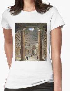 Vintage famous art - Giovanni Paolo Panini - The Interior Of The Pantheon, Rome Womens Fitted T-Shirt