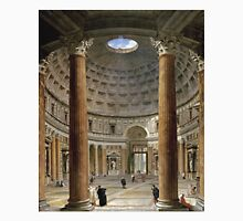 Vintage famous art - Giovanni Paolo Panini - The Interior Of The Pantheon, Rome T-Shirt