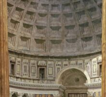 Vintage famous art - Giovanni Paolo Panini - The Interior Of The Pantheon, Rome Sticker