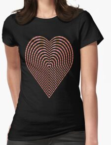 Elegant love heart style Womens Fitted T-Shirt