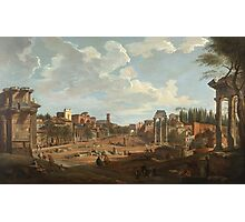 Vintage famous art - Giovanni Paolo Panini - View Of Rome Photographic Print