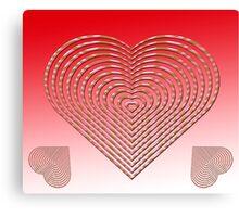 Elegant love heart style Canvas Print