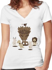 Game Of Musical Thrones Women's Fitted V-Neck T-Shirt