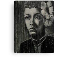 Billie Holiday - low ink Canvas Print