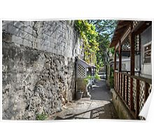 Small Alley between Blue Hill Road and Hospital Lane in Nassau, The Bahamas Poster